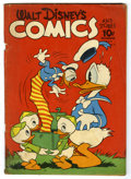 Golden Age (1938-1955):Funny Animal, Walt Disney's Comics and Stories #27 (Dell, 1942) Condition: GD.Donald Duck appears. Overstreet 2005 GD 2.0 value = $47....