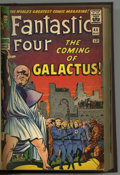 """Silver Age (1956-1969):Superhero, Fantastic Four/Thor """"Coming of Galactus"""" Bound Volume (Marvel,1965-72). Incredible professionally bound volume of related M..."""