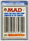 "Magazines:Mad, Mad #198 (EC, 1978) CGC VF/NM 9.0 Cream to off-white pages. UPCsymbol cover and parody. ""Alice"" TV satire. ""The Deep"" movie..."