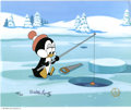 "Original Comic Art:Miscellaneous, Chilly Willy ""Chilly's Fishing Hole"" Limited Edition Hand PaintedCel #179/200 Original Art (Walter Lantz Productions, 1991)."