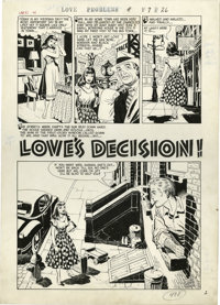 """Warren Kremer and John Prentice - True Love Problems and Advice #43 Complete 5-page Story """"Love's Decision"""" Or..."""