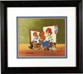 Original Comic Art:Miscellaneous, Woody's Triple Self Portrait Limited Edition Hand Painted Cel #199/200 Original Art (MCA/Universal, 1992). Woody paints Wood...