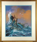 "Original Comic Art:Covers, Boris Vallejo - ""Neryds"" Water Nymphs Painting Original Art(1989)...."