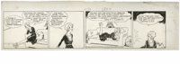 Chic Young - Blondie Daily Comic Strip Original Art, dated 11-15-30 (King Features Syndicate, 1930). Blondie may hate mo...
