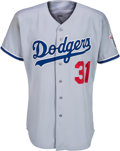 Baseball Collectibles:Uniforms, 1998 Mike Piazza Game Worn Los Angeles Dodgers Jersey. ...