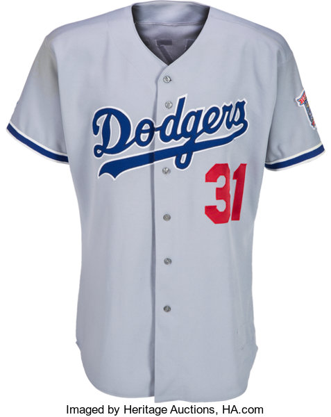 competitive price 246bc e2609 1998 Mike Piazza Game Worn Los Angeles Dodgers Jersey ...