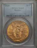 Mexico, Mexico: Republic gold 50 Pesos 1929 MS64 PCGS,...