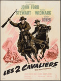 """Movie Posters:Western, Two Rode Together (Columbia, 1961). French Grande (47"""" X 63""""). Western.. ..."""