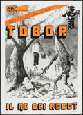 "Movie Posters:Science Fiction, Tobor the Great (BBC, R-1980s). Italian 2 - Foglio (39.5"" X 55"").Science Fiction.. ..."