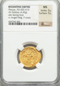 Ancients:Byzantine, Ancients: Phocas (AD 602-610). AV solidus (22mm, 4.45 gm, 7h)....