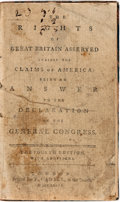 Books:Americana & American History, [James Macpherson]. The Rights of Great Britain Asserted Againstthe Claims of America: Being an Answer to the Declarati...