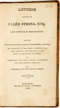 Books:Religion & Theology, Samuel Whelpley. Letters Addressed to Caleb Strong, Esq. Late Governor of Massachusetts, Showing, That Retaliation, Capi...