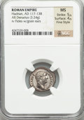 Ancients:Roman Imperial, Ancients: Hadrian (AD 117-138). AR denarius (17mm, 3.24 gm, 6h)....