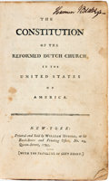Books:Americana & American History, [Reformed Dutch Church]. The Constitution of the Reformed DutchChurch in the United States of America. New York: Du...