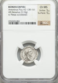 Ancients:Roman Imperial, Ancients: Antoninus Pius (AD 138-161). AR denarius (3.10 gm)....