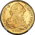 Chile, Chile: Charles IV gold 8 Escudos 1802 So-JJ AU58 NGC,...