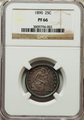 Proof Seated Quarters: , 1890 25C PR66 NGC. NGC Census: (20/14). PCGS Population (20/18).Mintage: 590. Numismedia Wsl. Price for problem free NGC/P...