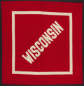 Football Collectibles:Others, Circa 1940's Wisconsin Badgers Felt Pennant....