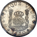 Mexico, Mexico: Charles III 8 Reales 1770 Mo-FM MS61 NGC,...