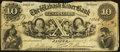 Obsoletes By State:Indiana, Jasper, IN- The Wabash River Bank $10 June 7, 1854. ...
