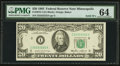 Small Size:Federal Reserve Notes, Solid 2 Serial Number Fr. 2075-I $20 1985 Federal Reserve Note. PMG Choice Uncirculated 64.. ...