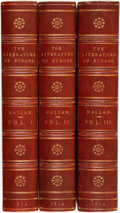 Books:Literature Pre-1900, Henry Hallam. Introduction to the Literature of Europe in the Fifteenth, Sixteenth, and Seventeenth Centuries. Londo... (Total: 3 Items)
