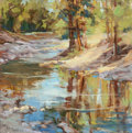 Fine Art - Painting, American:Modern  (1900 1949)  , Louis McFarland (American, 20th Century). Forest Creek. Oilon masonite. 20 x 20 inches (50.8 x 50.8 cm). Signed lower l...
