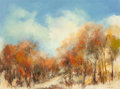 Fine Art - Painting, American:Contemporary   (1950 to present)  , Betty Winn (American, 1916-2000). Autumn Landscape. Oil oncanvas. 30 x 40 inches (76.2 x 101.6 cm). Signed lower right:...