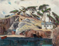 Fine Art - Painting, American:Contemporary   (1950 to present)  , Douglas Shively (American, 1896-1991). Coastal Homes, 1964.Oil on canvasboard. 22-1/2 x 28 inches (57.2 x 71.1 cm). Sig...