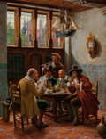 Fine Art - Painting, European:Antique  (Pre 1900), Wilhelm Giessel (Austrian, 1869-1938). In Time of Peace. Oilon canvas. 21 x 16 inches (53.3 x 40.6 cm). Signed lower ri...