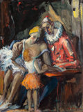 Fine Art - Painting, American:Modern  (1900 1949)  , Arnold Hoffmann (Russian/American, 1886-1966). CircusFamily, 1951. Oil on canvas. 40 x 30 inches (101.6 x 76.2 cm).Sig...