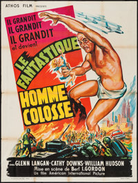 "The Amazing Colossal Man (Athos, 1958). French Grande (47"" X 62.75""). Science Fiction"