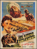 "Movie Posters:Action, Four Feathers (United Artists, 1945). First Post-War Release FrenchGrande (46.5"" X 63""). Action.. ..."