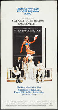 "Myra Breckinridge (20th Century Fox, 1970). Three Sheet (41"" X 79""). Comedy"