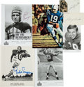 Autographs:Bats, 1970's-80's Football Greats Signed Photographs & Index Cards....