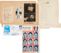 Baseball Collectibles:Others, 1934-1983 New York Yankees Signed Collection of VintageMemorabilia....