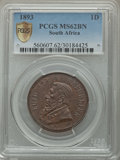 South Africa, South Africa: Republic Penny 1893 MS62 Brown PCGS,...