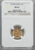 Chile, Chile: Republic gold 2 Pesos 1873-So MS62 NGC,...