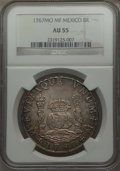 Mexico, Mexico: Charles III Pillar Dollar of 8 Reales 1767 Mo-MF AU55NGC,...