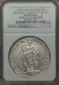 Netherlands East Indies, Netherlands East Indies: Dutch Colony. Zeeland 3 Gulden 1789-VOC XFDetails (Surface Hairlines) NGC,...
