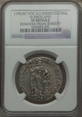 Netherlands East Indies, Netherlands East Indies: Dutch Colony. Westfriesland Gulden1790/87-VOC VF Details (Removed from Jewelry) NGC ,...