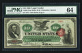 Large Size:Legal Tender Notes, Fr. 95b $10 1863 Legal Tender PMG Choice Uncirculated 64.. ...