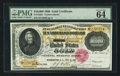 Large Size:Gold Certificates, Fr. 1225h $10,000 1900 Gold Certificate PMG Choice Uncirculated 64EPQ.. ...