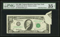 Error Notes:Foldovers, Fr. 2032-B $10 1995 Federal Reserve Note. PMG Choice Very Fine 35EPQ.. ...
