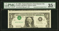 Error Notes:Inverted Third Printings, Fr. 1921-J $1 1995 Federal Reserve Note. PMG Choice Very Fine 35EPQ.. ...