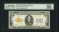 Small Size:Gold Certificates, Fr. 2405 $100 1928 Gold Certificate. PMG About Uncirculated 55 EPQ.. ...