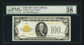 Small Size:Gold Certificates, Fr. 2405 $100 1928 Gold Certificate. PMG Choice About Uncirculated 58 EPQ.. ...