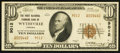 National Bank Notes:Virginia, Wytheville, VA - $10 1929 Ty. 2 The First National Farmers Bank Ch.# 9012. ...