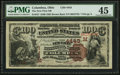 Columbus, OH - $100 1882 Brown Back Fr. 527 The New First NB Ch. # (M)4443