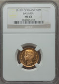 German States:Bavaria, German States: Bavaria. Otto gold 10 Mark 1912-D MS63 NGC,...